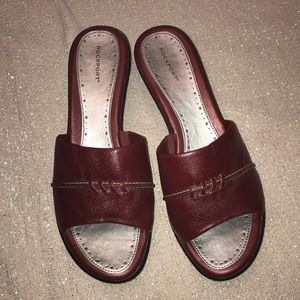 Rockport Red leather 9w women's shoes